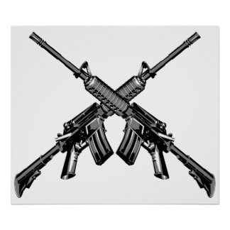 Rifles cruzados impresiones