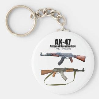 Rifles de asalto de Avtomat Kalashnikova de la his Llavero Redondo Tipo Pin