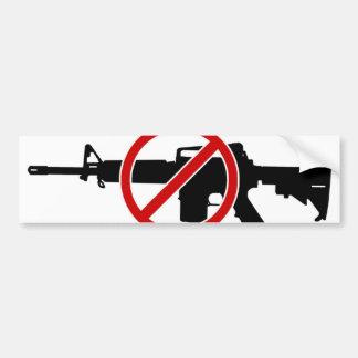 ¡Rifles de asalto de la prohibición AHORA! Pegatina Para Auto
