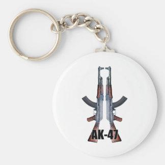 Rifles de asalto duales de AK-47 Llavero Redondo Tipo Pin