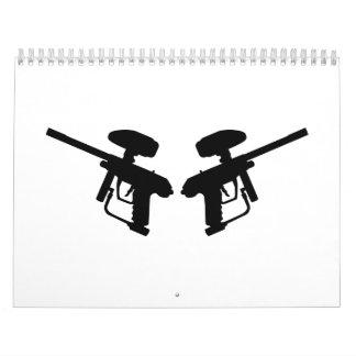 Rifles de Paintball Calendario De Pared