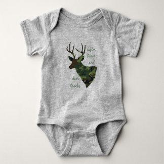 Rifles, Racks and Deer Tracks Camouflage Hunting Baby Bodysuit