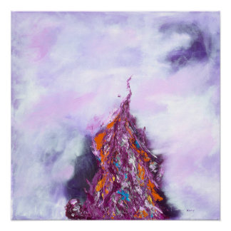 Rift - Purple & Lavender Abstract Art Poster