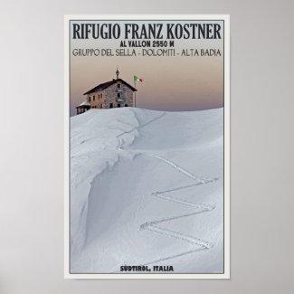 Rifugio Franz Kostner - Südtirol, Italy print