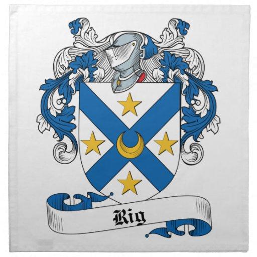 Rig Family Crest Printed Napkins