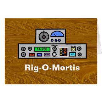 Rig-O-Mortis Ham Radio Birthday Card