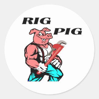 Rig Pig Classic Round Sticker