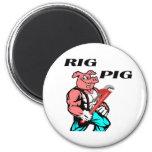 Rig Pig Refrigerator Magnets