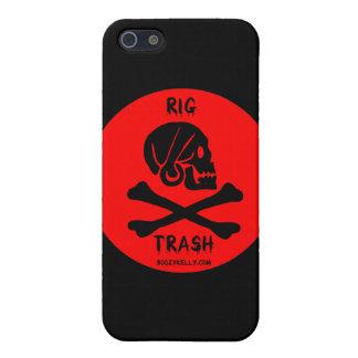 Rig Trash,Skull & Crossbones,iPhone Case,Oil iPhone 5 Covers