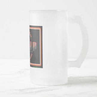 RIG UP LOGO FROSTED GLASS BEER MUG