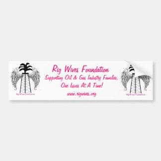 Rig Wives Foundation Car Bumper Sticker