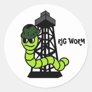 Rig Worm Hard Hat Sticker
