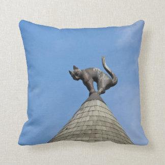 Riga Cat dome Throw Pillow
