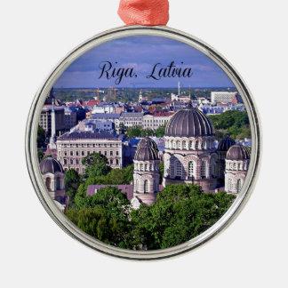 Riga Latvia cityscape Christmas Tree Ornaments