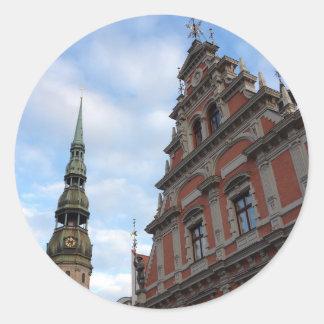 Riga, Latvia Classic Round Sticker