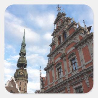 Riga, Latvia Square Sticker