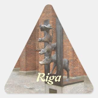 Riga Latvia Triangle Sticker