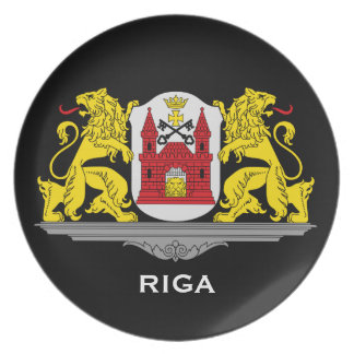 Riga Latviaa Coat of Arms Collector's Plate