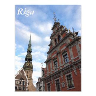 Riga, Letonia Plantilla De Membrete