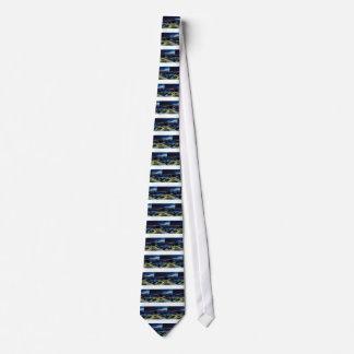 Riga Night Skyline Neck Tie