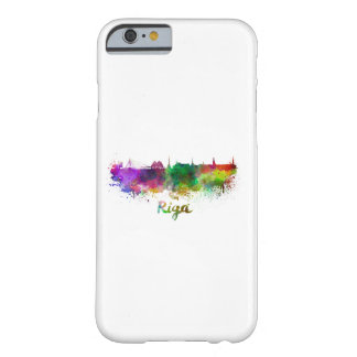 Riga skyline in watercolor barely there iPhone 6 case