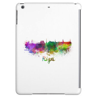 Riga skyline in watercolor iPad air covers