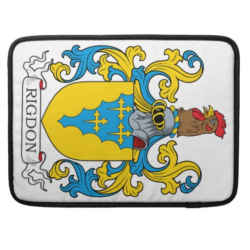 Rigdon Family Crest Sleeves For MacBook Pro