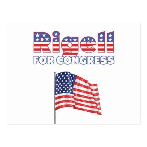 Rigell for Congress Patriotic American Flag Postcard