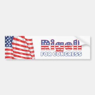 Rigell para la bandera americana patriótica del co pegatina de parachoque