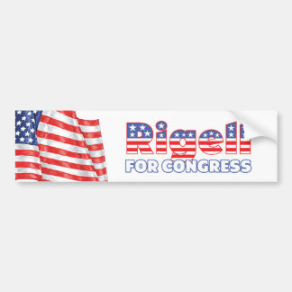 Rigell para la bandera americana patriótica del co pegatina para auto