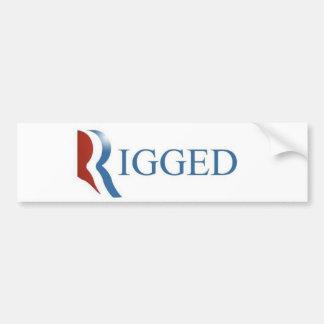 Rigged Bumper Sticker, GOP, RNC, Election Car Bumper Sticker
