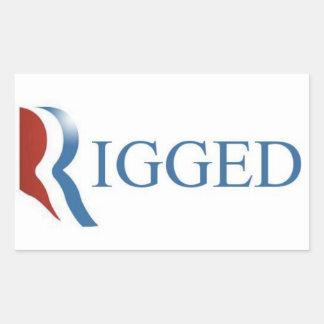 Rigged Rectangle Sticker, GOP, Republican Party Rectangular Sticker