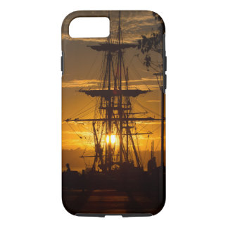 Rigged Tall Sailing Ship at Sunset iPhone 7 Case