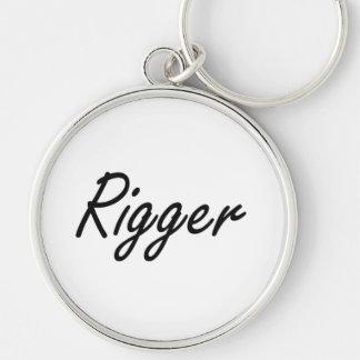 Rigger Artistic Job Design Silver-Colored Round Keychain