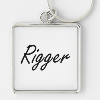 Rigger Artistic Job Design Silver-Colored Square Keychain