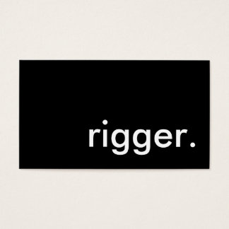 rigger. business card