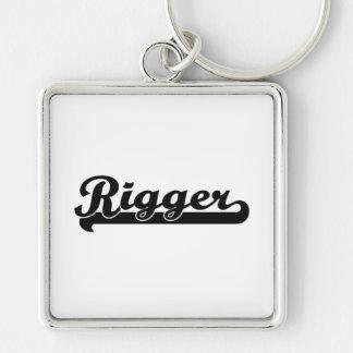 Rigger Classic Job Design Silver-Colored Square Keychain
