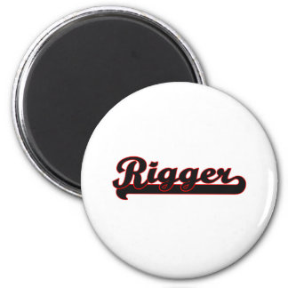 Rigger Classic Job Design 2 Inch Round Magnet