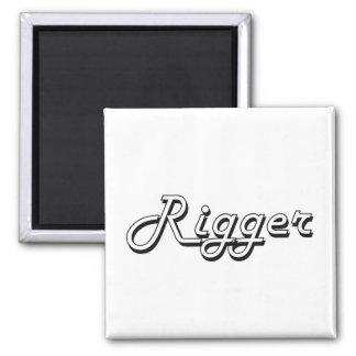 Rigger Classic Job Design 2 Inch Square Magnet