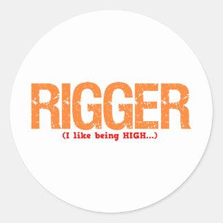 Rigger Job Description Classic Round Sticker