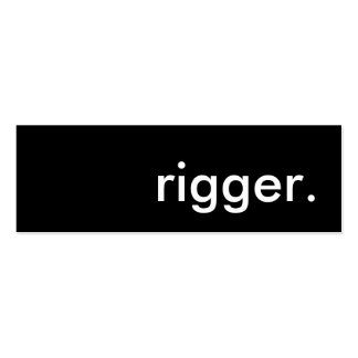 rigger. mini business card