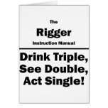 rigger stationery note card