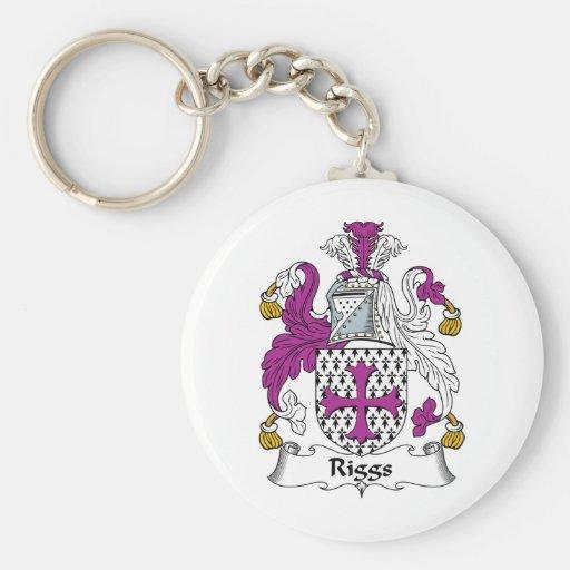 Riggs Family Crest Basic Round Button Keychain