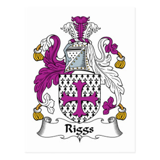 Riggs Family Crest Postcard
