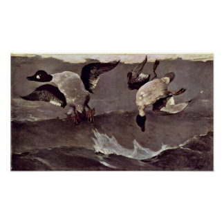 Right and Left by Winslow Homer Poster