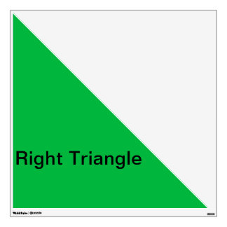 Right Angle Triangle Wall Decal