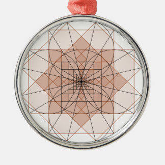 right-angled golden delicious flower metal ornament
