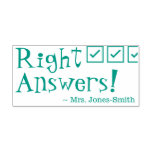 """[ Thumbnail: """"Right Answers!"""" Educator Feedback Rubber Stamp ]"""