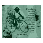Right Attitude for Cycling Success Poster