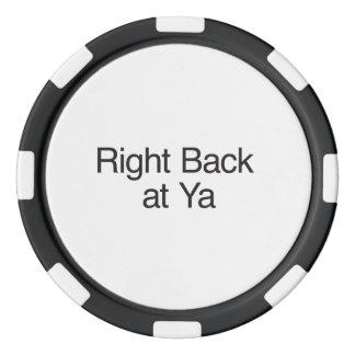 Right Back at Ya Poker Chip Set